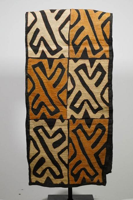Large African Kuba Cloth Runner 123″ x 20″ – DRC – African Art